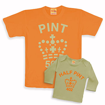 'Pint' Twinset Orange / Cream