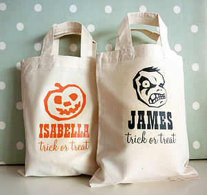 Halloween Personalised Mini Bag - trick or treat bags