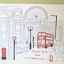 Personalised London Thank You Notelets