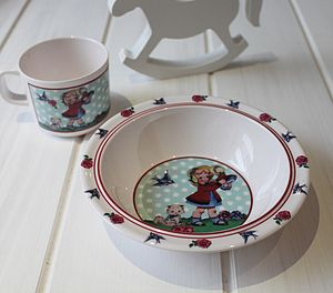 Vintage Style Girl Cup And Bowl Set - view all sale items