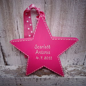 Personalised New Baby Star