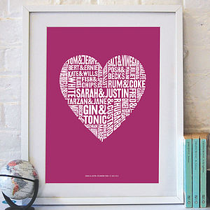 Personalised 'Perfect Pairs' Print - shop by recipient