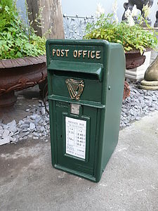 Vintage Style Green Post Box - storage