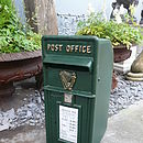 Vintage Style Green Post Box