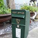 Vintage Style Green Post Box