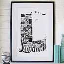 Best of London screen print framed
