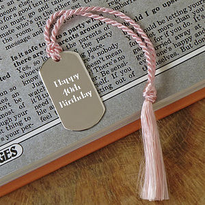 Personalised Solid Silver Bookmark - book-lover