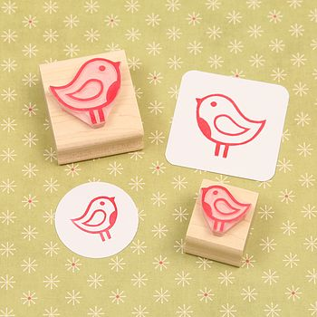 Christmas Robin Rubber Stamp