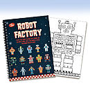 Robot Factory Colouring Book