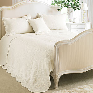 Cream Toulon Single Embroidered Bedspread