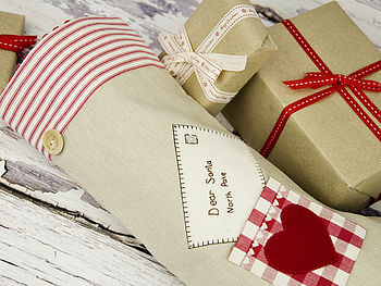 Letter To Santa Christmas Stocking