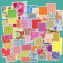 Bright fabrics for wedding favours