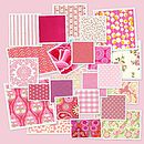 Pink fabrics for wedding favours