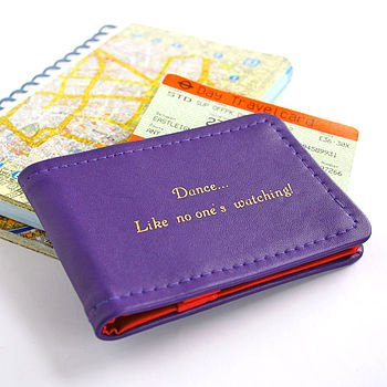 Personalised Hand Printed Card Holder