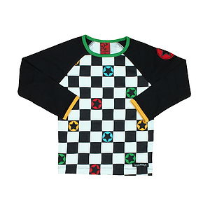Children's Racercheck Long Sleeve Top