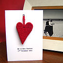 Personalised Heart Wedding Anniversary Card