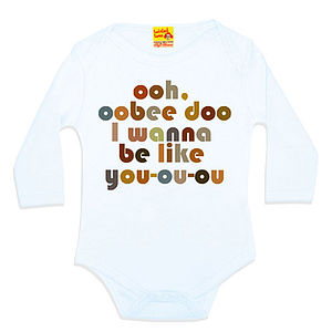 'Obee Doo' Film Quote Babygrow