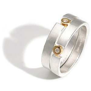 Double Puzzle Ring - women's jewellery