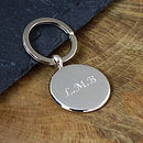 Solid Silver Pebble Keyring