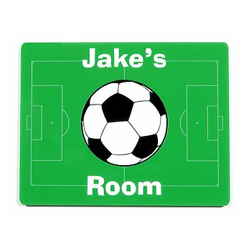 Personalised Football Themed Door Plaque