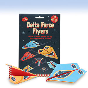 Delta Force Flyers Paper Plane Activity Kit - stocking fillers under £15