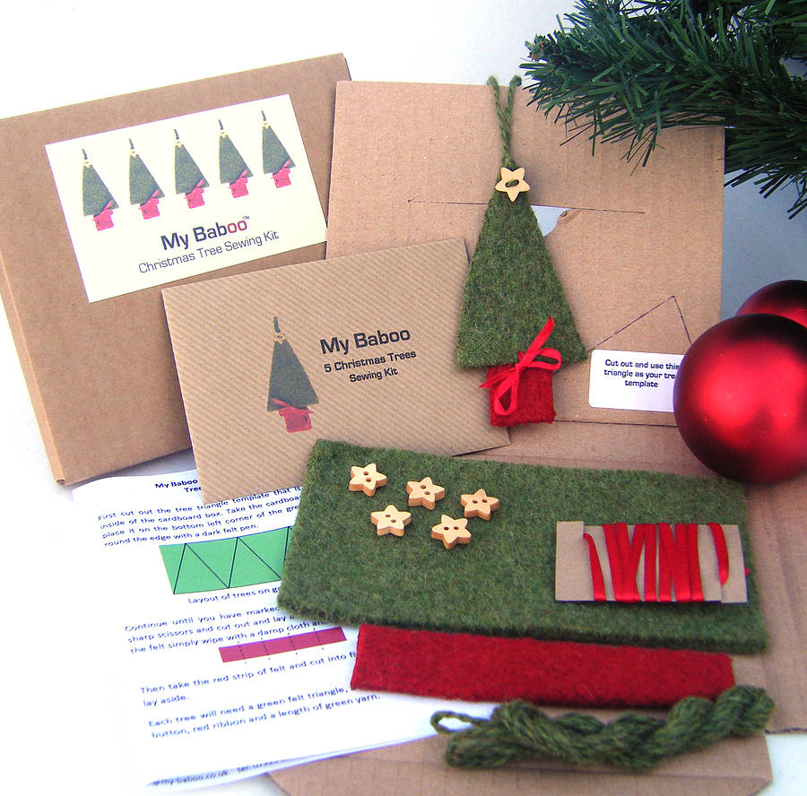 Christmas tree decoration sewing kit by my baboo ...