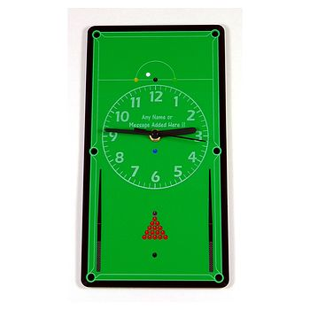 Personalised Snooker Table Clock