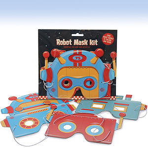 Robot Mask Activity Kit - wedding day activities
