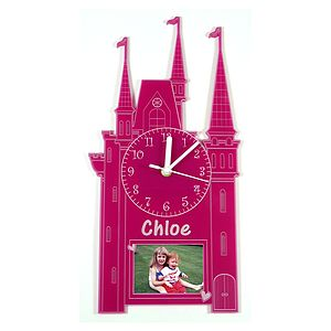 Personalised Princess Castle Clock - children's clocks