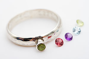 Falmouth Personalised Ring With Gemstone - rings