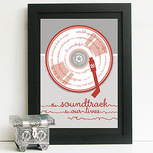 Soundtrack To Our Lives Personalised Print - art & pictures