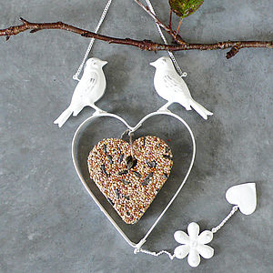 Vintage Cream Hanging Bird Feeder - birds & wildlife