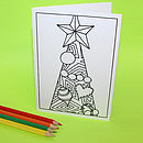 Colour In Christmas Tree Cards