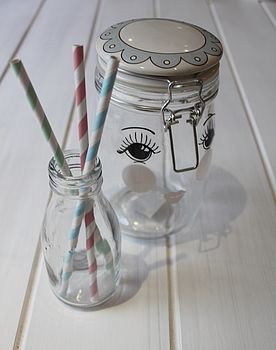 Face Design Storage Jar