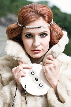 Estelle 1920s Deco Wedding Headband