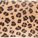 Natalia Leopard Clutch Bag