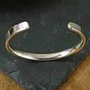 mans silver bangle personalised.