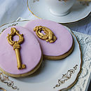 Thumb charity pink vanilla lock and key biscuits