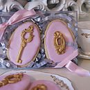 Two Charity Vanilla Lock And Key Biscuits