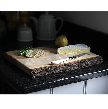 Solid English Ash Hand Carved Cutting Board