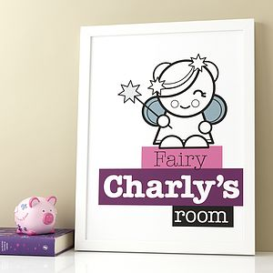 Personalised Fairy Room Print