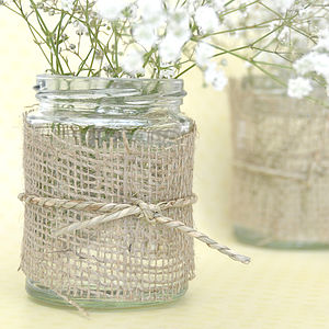 Hessian Fabric - table decorations