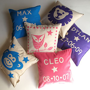 Child's Personalised Birthday Cushion - soft furnishings & accessories