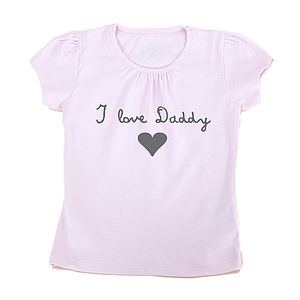 Girl's 'I Love Daddy' T Shirt