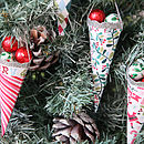 Christmas Tree Cone Decorations