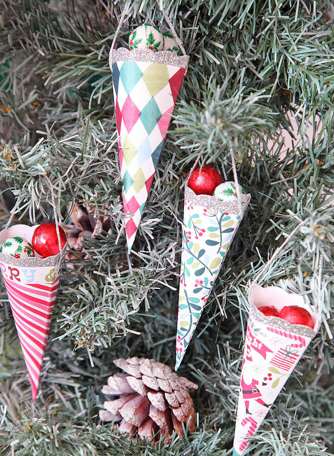 Red Berry Christmas Tree Decorations : Christmas tree cone decorations by red berry apple