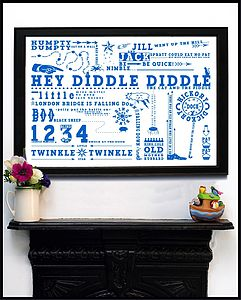 Nursery Rhyme Collection Print - canvas prints & art for children