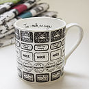 Illustrated Biscuit And Drink Mug
