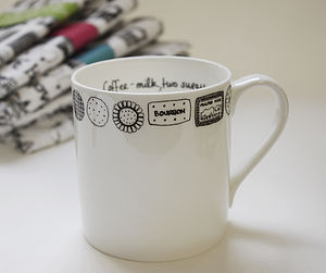Illustrated Biscuit Rim Drink Of Choice Mug