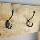 Reclaimed Wooden Victorian Style Coat Hook (Natural)